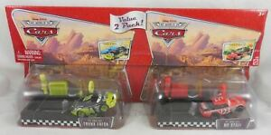 Disney-Pixar-Cars-2-Pack-Trunk-Fresh-amp-No-Stall-Pit-Race-Off-Launcher-Toy-Set