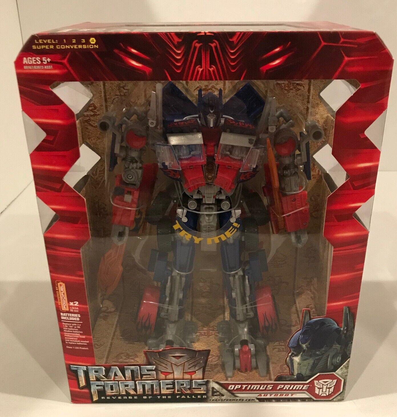 2008 Hasbro Transformers Revenge of the Fallen Leader Optimus Prime Autobot Comme neuf IN BOX