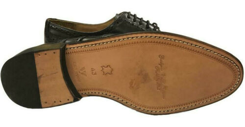 Mens Black Leather Brogues Catesby LaceUp Formal Dress Wedding Office Shoes 6-14
