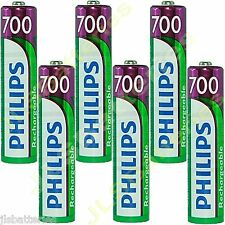 6 x AAA Rechargeable batteries  700mAh NiMh  Philips SBC HB550S Head phones
