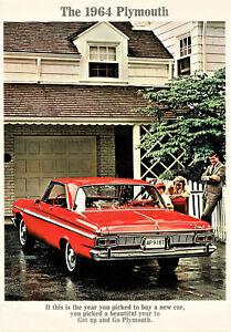 1964 Plymouth Fury Belvedere Savoy Wagons FS (NOS) Vintage Sales Brochure