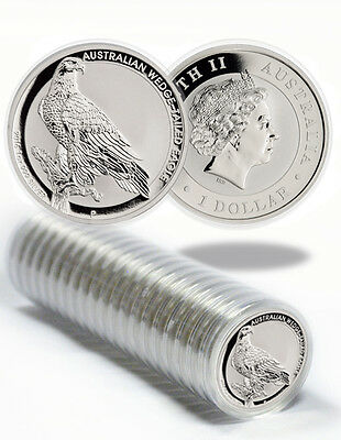 Roll of 20 - 2016-P Australia $1 1 Oz Silver Wedge Tailed Eagle Coins SKU38611