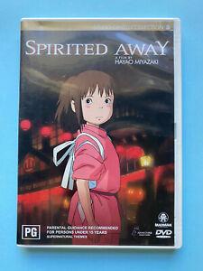 Spirited Away A Film By Hayao Miyazaki 🎬 DVD Region 4 PAL 🎬