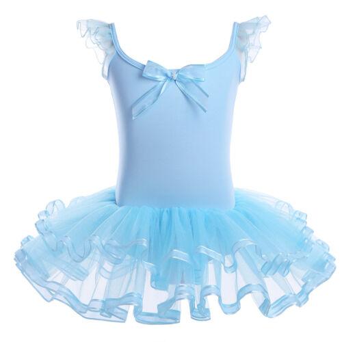 Girls Gymnastics Ballet Dance Dress Leotard Skating Tutu Skirt Unitard Ballerina