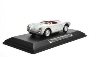 Porsche-Spyder-550-silber-1-43-Atlas-DieCast-metall-Modellauto-neu-und-box