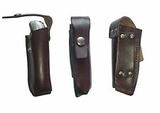 Folding Knife Belt Pouch Ex-Army Grade1 Brown Leather pocket knife sheath holder