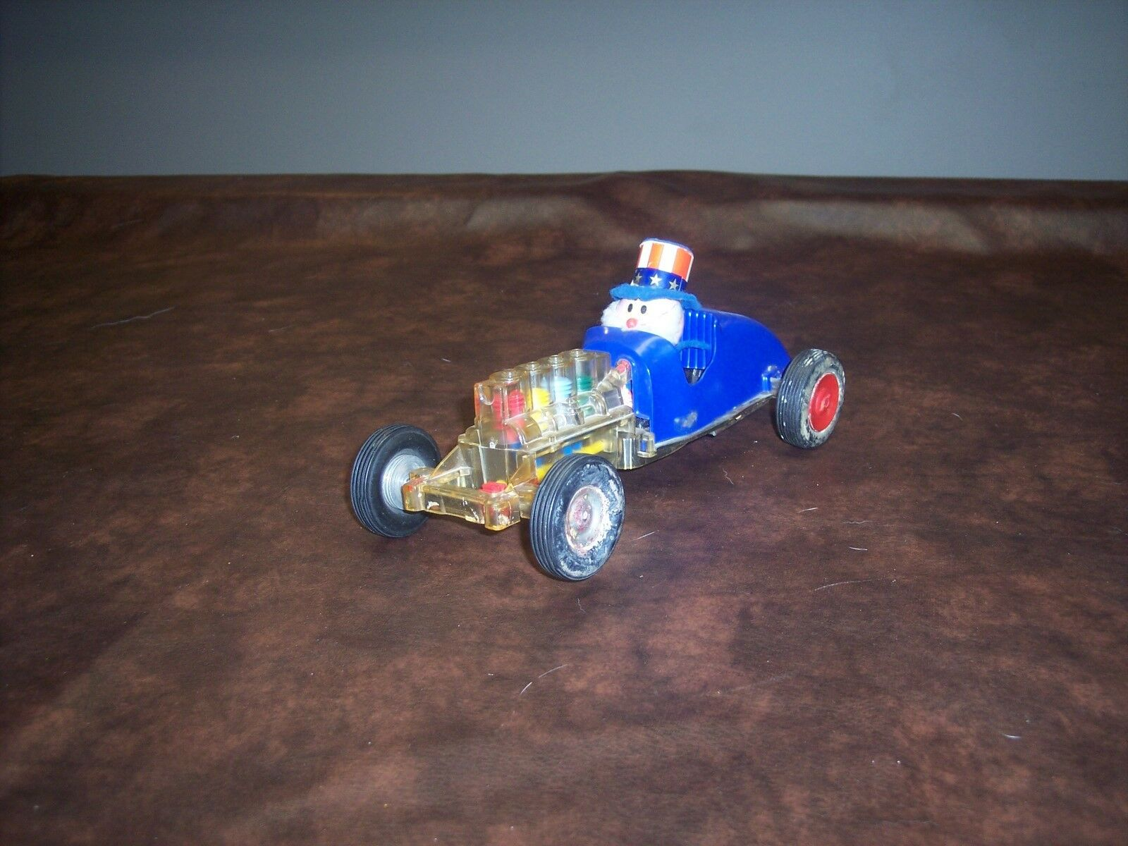 NOSCO TOY CAR - UNCLE SAM DRIVER - HARD TO FIND - USED - PLAYED WITH ITEM
