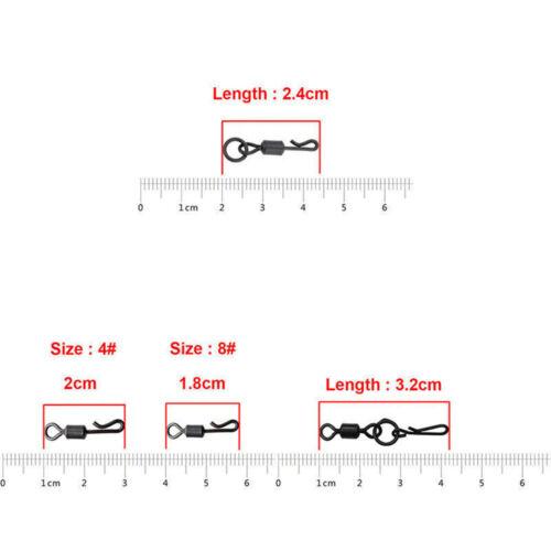 200pcs Fishing Swivels Clips Rig Speed Links Quick Carp Fishing Accessory