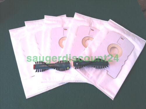 265 5 Filtertüten,geeignet für Vorwerk 260 270 1 x Ersatzbürste EB 360-370