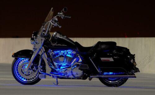 Blue 4pc LED Kit Engine Fairing Body Kit Lights Glow Accent Lighting Motorcycles
