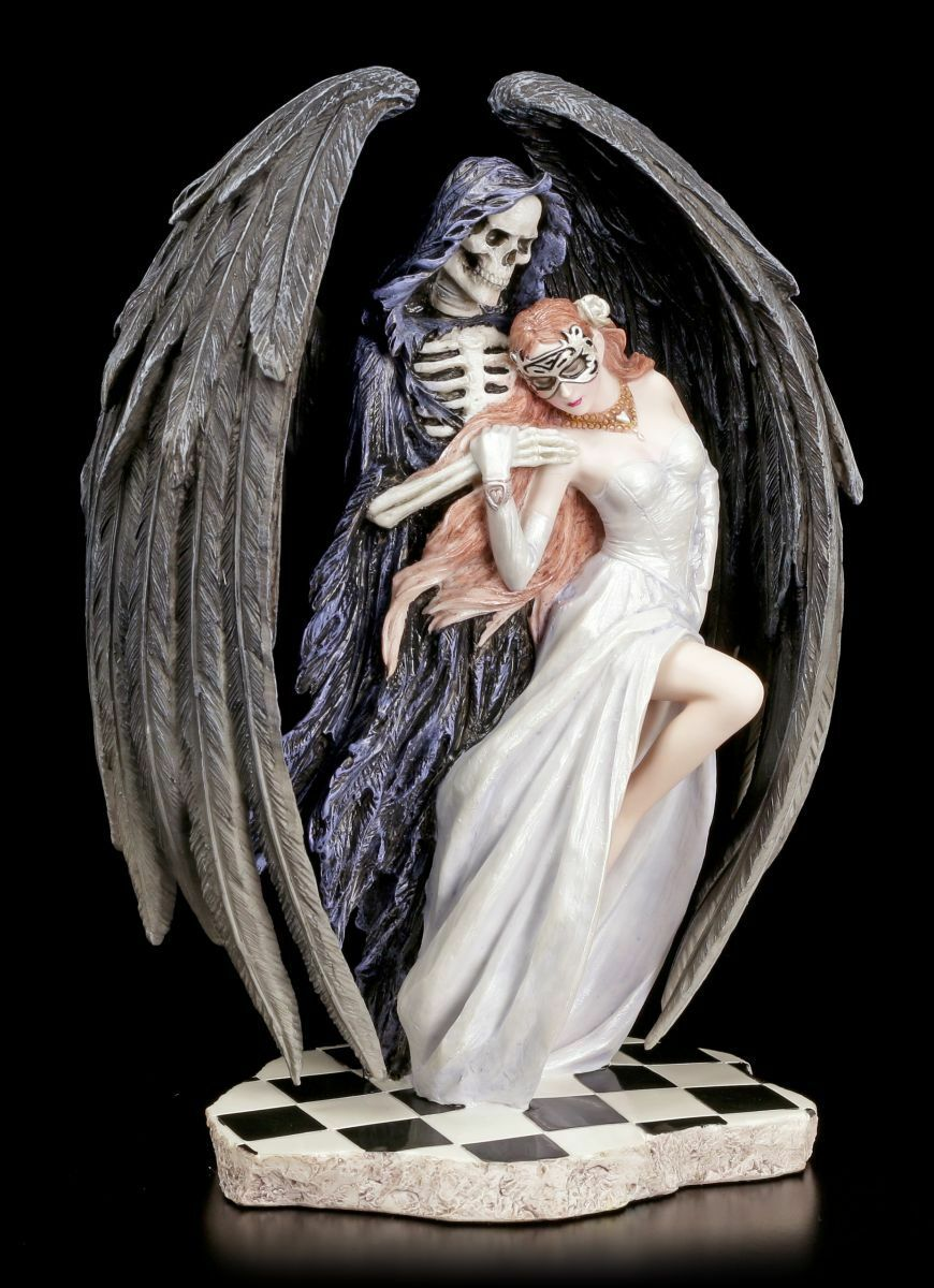 Reaper Figurine - Dance With Death - Anne Stokes Faucheuse Ange Statue Déco