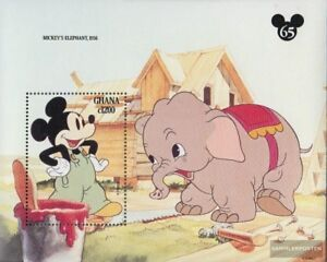 Postfrisch 1994 Walt-disney-figur Micky Maus Pleasant In After-Taste kompl.ausg. Ghana Block243