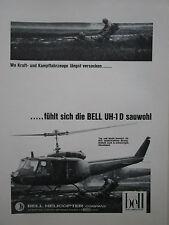 4/1967 PUB BELL HELICOPTER TEXTRON UH-1D VIETNAM HUBSCHRAUBER ORIGINAL GERMAN AD