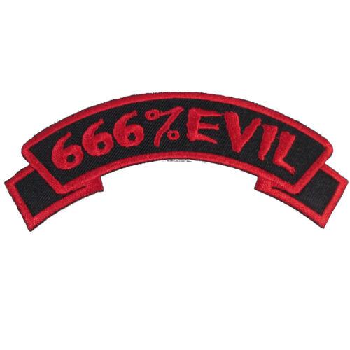 Kreepsville 666 Arch 666/% Evil Patch Horror Embroidered On Iron Patch PAR666E