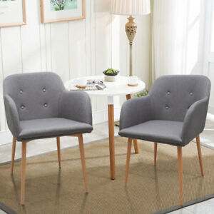 Image Is Loading 2 4 6 Fabric Dining Chairs Retro Armchair