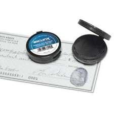Sicurix Fingerprint Ink Pad 1 12 Diameter Black 085288380105
