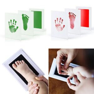 Baby Child Safe Christmas Gift Newborn Inkless Wipe Hand /& Foot Print Kit