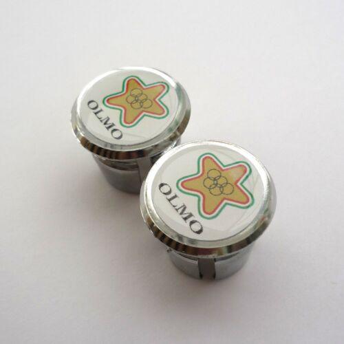 Chrome Racing Bar Plugs Repro Caps Vintage Style /'OLMO/' Celle Ligure