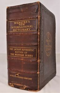 Webster's New International Dictionary with Reference History - 1922
