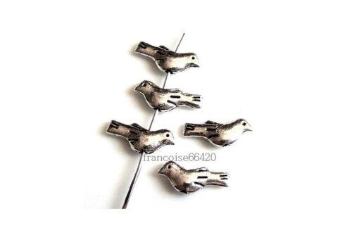 10 Intercalaires spacer Oiseau 14.5x6x3mm Perles apprêts création bijoux /_  A185