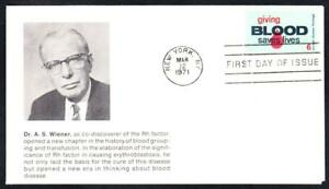 GIVING-BLOOD-Stamp-1425-Unknown-Cachet-First-Day-Cover-FDC-1477