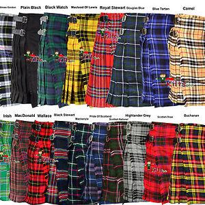 Tradicional-escoces-para-hombres-5-metros-y-13Oz-Tartan-Kilts-tartan-kilt