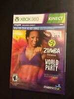 Xbox 360 Zumba World Party 2014 Dvd Requires Kinect Unopened Workout