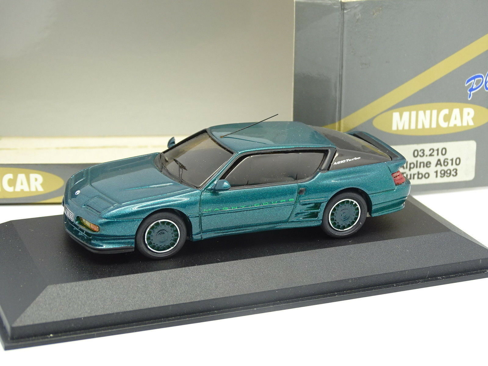 MiniCar 43 Résine 1 43 -  Alpine Renault A610 Turbo Magny Cours