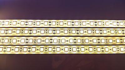 50cm 5050 cálido blanco Led Tira Rígida de Aluminio Impermeable Acuario A granel 5 un