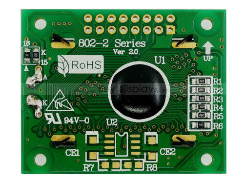 3.3V 8x2 LCD Module Character Display w//Tutorial,Bezel,HD44780,Backlight