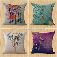 Set Of 4 Cushion Covers Native American Dreamcatcher Accessories Home Decor