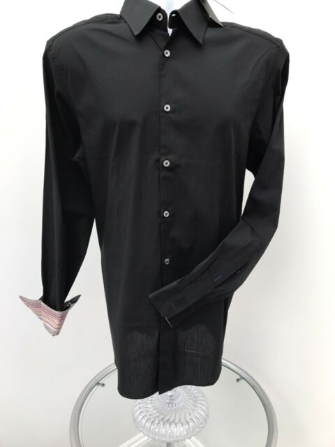 Paul Smith Mens Gents Collar Size 16 M Black Long Sleeved Shirt - BNWT  RRP £110