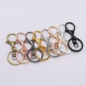 5pcs-Lobster-Clasp-Key-Snap-Hook-Split-Ring-Keychain-For-Jewelry-Making-Findings