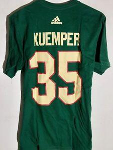 Adidas-NHL-Camiseta-Minnesota-Salvaje-Darcy-Kuemper-Verde-Talla-M