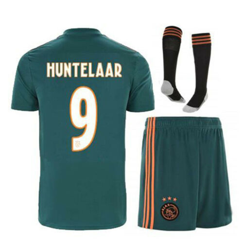 19//20 Football Full Kit Kids Youth Boys Soccer Team Jersey Strips Outfit+Socks