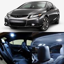 8 x White LED Lights Interior Package For Honda CIVIC 2013 - 2014 Coupe Sedan