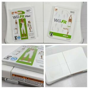 Nintendo Wii Fit Balance Board Bundle w/Wii Fit & Fit Plus Game Tested