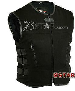 Chaleco Para Motorista En Vaquero, Swat Stycle Chaleco, Veste Textile Vest Biker Clair Et Distinctif