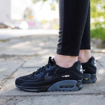 Womens Nike Air Max 90 Ultra Breathe Sneakers New, Black