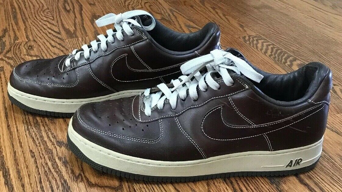 2004 NIKE AIR FORCE 1 Premium Sneakers shoes Size 12 BAROQUE BROWN 309096 211