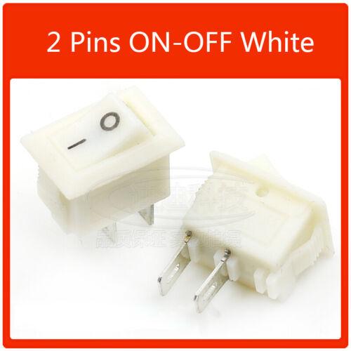 10pcs ON//OFF Mini Rectangle Rocker Switch 2 Pin 3 Pin Car Boat Switche 15x10.5mm