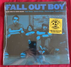 Fall Out Boy -Take This To Your Grave FBR 25th Anniversary Silver Vinyl LP