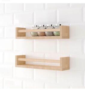 Elegant Image Is Loading 2 X IKEA BEKVAM Bekvam Wooden Spice Racks