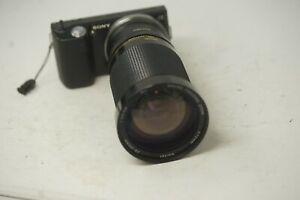 Sony-E-Mount-angepasst-28-210mm-Vivitar-f3-5-f5-6-Zoom-Objektiv-alle-a7-NEX-a6000