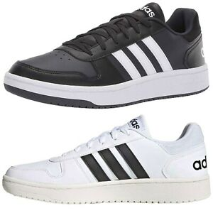 NEW-Adidas-Men-Casual-Essentials-Hoops-2-0-Lace-Up-Three-Stripe-Fashion-Sneakers