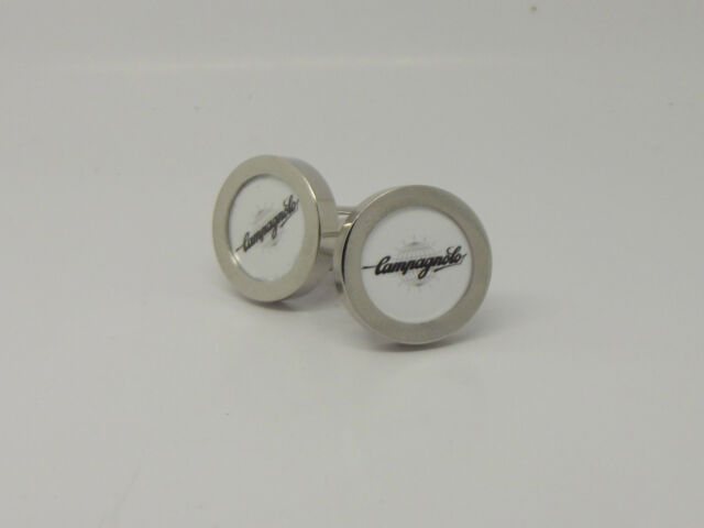 Campagnolo cycling cufflinks pair Silver color record bullet