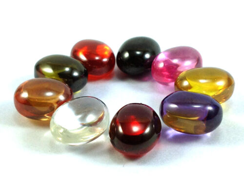 Real 9 Color Of Naga Eyes Gem Oval Shape Powerful Thai Buddha Amulet Pendant