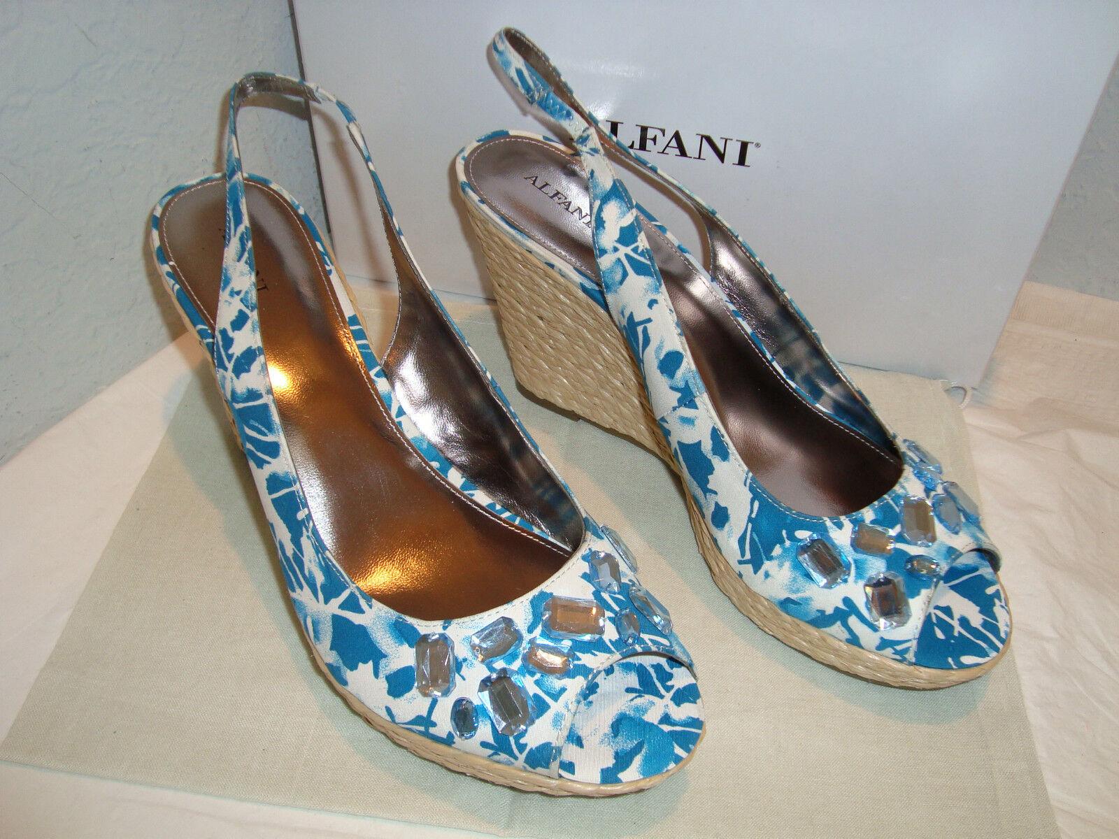 NEU Alfani Oasis Blau Damenschuhe Wedge Sandales 11 Medium