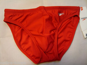 81c6914e4b Image is loading Mens-Speedo-RED-Solar-Bikini-Brief-Nylon-Lycra-