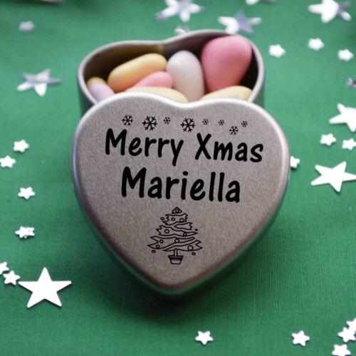 Feliz Navidad Mariella Mini Corazón Lata Regalo Presente Feliz Navidad llenador de la media